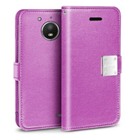 Essential Leather Wallet Case for Motorola Moto E4 - Purple
