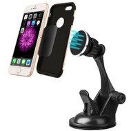 Magnetic In-Car Windshield Dashboard Mount Phone Holder - Black