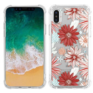Klarity Premium Transparent Anti-Shock TPU Case for iPhone X - Spring Daisies
