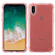 Klarity Premium Transparent Anti-Shock TPU Case for iPhone X - Rose Gold