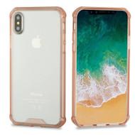 Polymer Transparent Hybrid Case for iPhone X - Rose Gold 143