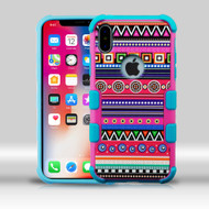 Military Grade Certified TUFF Merge Image Hybrid Armor Case for iPhone X - Tribal Fashion