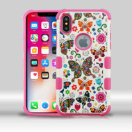 Military Grade Certified TUFF Merge Image Hybrid Armor Case for iPhone X - Butterfly Wonderland