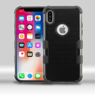Military Grade Certified TUFF Merge Hybrid Armor Case for iPhone X - Black