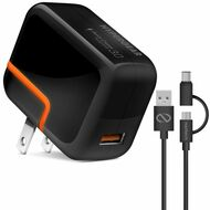HyperGear Quick Charge 3.0 Adaptive Fast AC Wall Charger with 4ft USB-C Cable