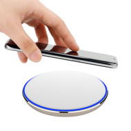 Aluminum Wireless Charger Qi Inductive Charging Pad - White