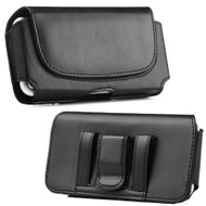 Premium Leather Horizontal Hip Case - Black