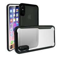 Ultra Hybrid Shock Absorbent Crystal Case for iPhone X - Black