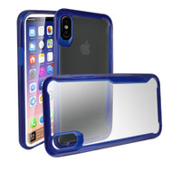Ultra Hybrid Shock Absorbent Crystal Case for iPhone X - Blue