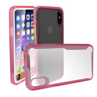 Ultra Hybrid Shock Absorbent Crystal Case for iPhone X - Pink