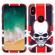 Military Grade Certified TUFF Image Hybrid Armor Case for iPhone X - Union Jack Skull
