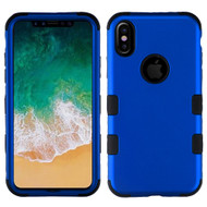 Military Grade Certified TUFF Hybrid Armor Case for iPhone X - Titanium Dark Blue