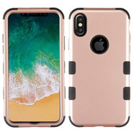 Military Grade Certified TUFF Hybrid Armor Case for iPhone X - Rose Gold 059