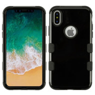 Military Grade Certified TUFF Hybrid Armor Case for iPhone X - Jet Black