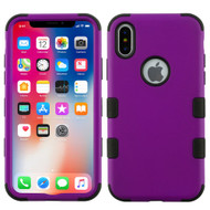 Military Grade Certified TUFF Hybrid Armor Case for iPhone X - Purple