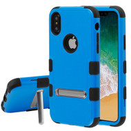 Military Grade Certified TUFF Hybrid Armor Case with Stand for iPhone X - Blue