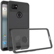 Polymer Transparent Hybrid Case for Google Pixel 2 XL - Black
