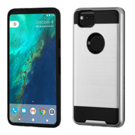 Brushed Hybrid Armor Case for Google Pixel 2 - Silver