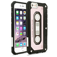*Sale* Vintage Cassette Anti-Shock Hybrid Armor Case for iPhone 6 Plus / 6S Plus - Rose Gold