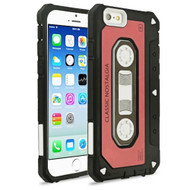 *Sale* Vintage Cassette Anti-Shock Hybrid Armor Case for iPhone 6 / 6S - Red