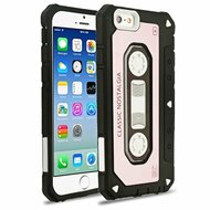 Vintage Cassette Anti-Shock Hybrid Armor Case for iPhone 6 / 6S - Rose Gold