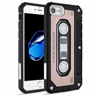*Sale* Vintage Cassette Anti-Shock Hybrid Armor Case for iPhone 8 / 7 - Rose Gold