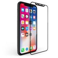 3D Curved Soft Edge Full Coverage Tempered Glass Screen Protector for iPhone X - Black