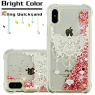 Confetti Quicksand Glitter Transparent Case for iPhone X - Chandelier Mandala