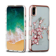 TUFF Panoview Diamante Transparent Hybrid Case for iPhone X - Spring Flowers