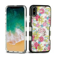 TUFF Panoview Diamante Transparent Hybrid Case for iPhone X - Pink Floral