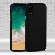 Military Grade Certified TUFF Contempo Hybrid Armor Case for iPhone X - Black