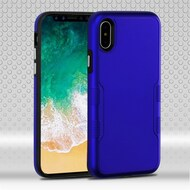 Military Grade Certified TUFF Contempo Hybrid Armor Case for iPhone X - Titanium Blue