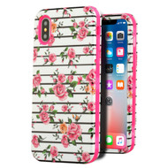 Verge Hybrid Armor Case for iPhone X - Pink Fresh Roses