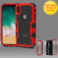 TUFF Vivid Transparent Hybrid Armor Case for iPhone X - Red
