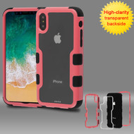 TUFF Vivid Transparent Hybrid Armor Case for iPhone X - Pink