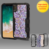 TUFF Vivid Transparent Hybrid Armor Case for iPhone X - Persian Paisley