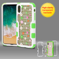 TUFF Vivid Transparent Hybrid Armor Case for iPhone X - Tiny Blossoms