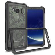 Polymer Transparent Hybrid Case for Samsung Galaxy S8 Active - Black