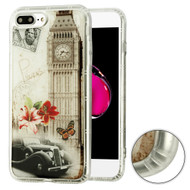 Air Cushion Shockproof Crystal TPU Case for iPhone 8 Plus / 7 Plus - Big Ben