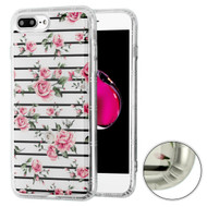 *Sale* Air Cushion Shockproof Crystal TPU Case for iPhone 8 Plus / 7 Plus - Pink Fresh Roses