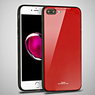 *Sale* Minimalistic TPU Case with Tempered Glass Backing for iPhone 8 Plus / 7 Plus - Red