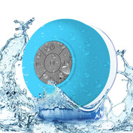 Portable Waterproof Bluetooth Wireless Speaker with Built-In Mic - Blue