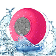 Portable Waterproof Bluetooth Wireless Speaker with Built-In Mic - Hot Pink