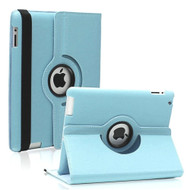 360 Rotating Leather Hybrid Case for iPad 2, iPad 3 and iPad 4th Generation - Baby Blue