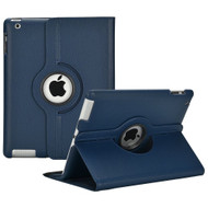 *Sale* 360 Rotating Leather Hybrid Case for iPad 2, iPad 3 and iPad 4th Generation - Navy Blue