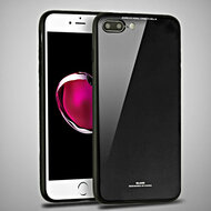 Minimalistic TPU Case with Tempered Glass Backing for iPhone 8 Plus / 7 Plus - Black