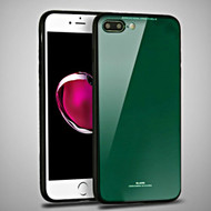 Minimalistic TPU Case with Tempered Glass Backing for iPhone 8 Plus / 7 Plus - Green