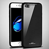 Minimalistic TPU Case with Tempered Glass Backing for iPhone 8 / 7 - Black