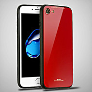 Minimalistic TPU Case with Tempered Glass Backing for iPhone 8 / 7 - Red