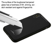 *SALE* Minimalistic TPU Case with Tempered Glass Backing for iPhone X - Black